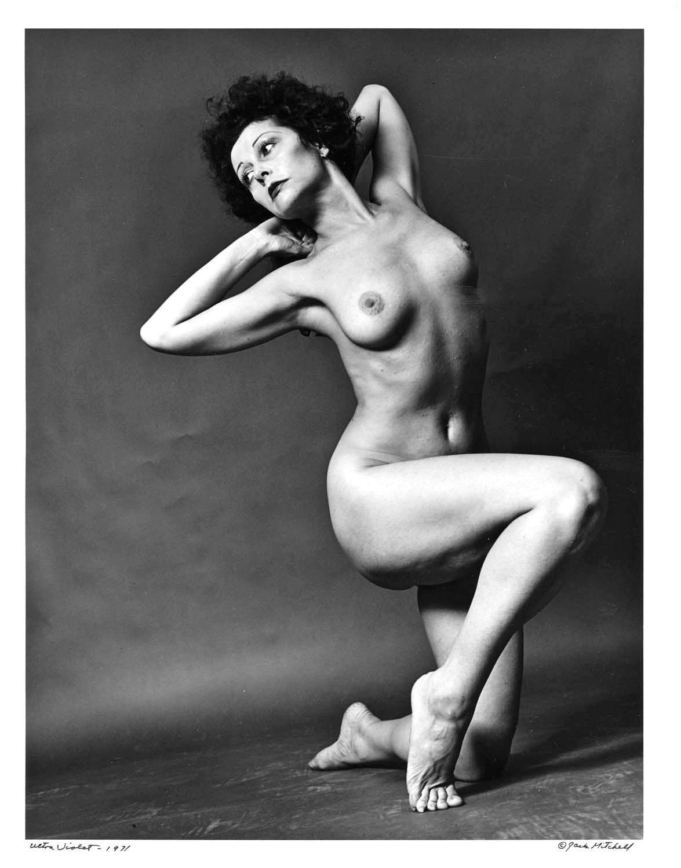 Warhol Superstar Ultra Violet Nude for After Dark, Signed