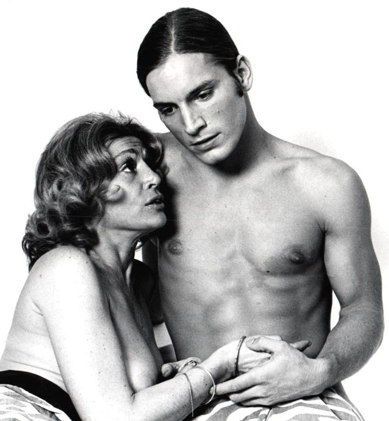 Warhol Superstars Joe Dallesandro & Sylvia Miles in 'Heat' nude for 'After Dark' - Photograph by Jack Mitchell
