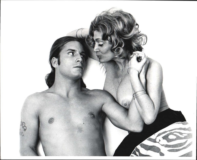 Jack Mitchell Nude Photograph - Warhol Superstars Joe Dallesandro & Sylvia Miles in 'Heat' nude for 'After Dark'