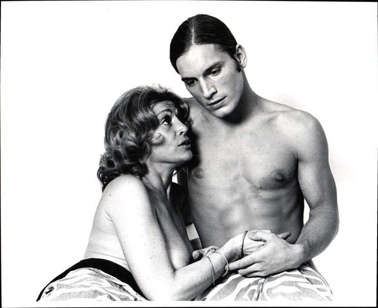 Jack Mitchell Nude Photograph - Warhol Superstars Joe Dallesandro & Sylvia Miles in 'Heat' nude for 'After Dark'