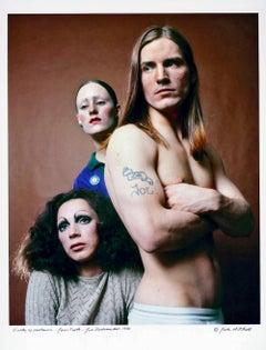 Warhol 'Trash' stars, Woodlawn, Forth & Dallesandro, signed by Jack Mitchell