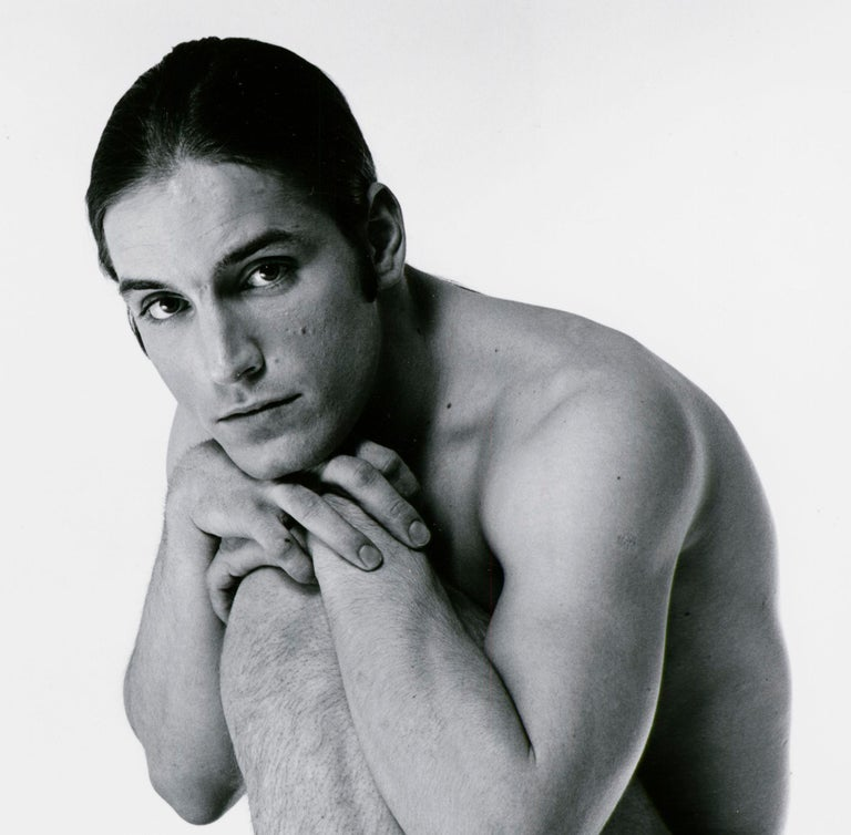 Warhol 'Trash' Superstar Joe Dallesandro nude for After Dark, signed by Mitchell - Photograph by Jack Mitchell