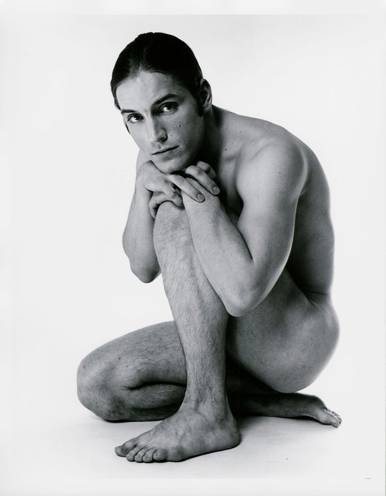 Jack Mitchell Black and White Photograph - Warhol 'Trash' Superstar Joe Dallesandro nude for After Dark, signed by Mitchell
