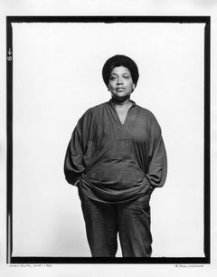 Writer/Feminist/Activist Audre Lorde, signed by Jack Mitchell