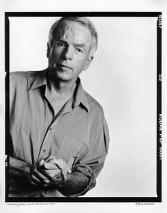 Writer/performer Spalding Gray, signed by Jack Mitchell