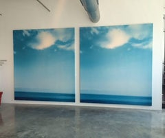 "Jack Pierson, ""Blue Horizon"" Ocean Image diptych, 1997"