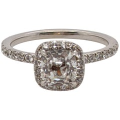 Jack Reiss 1 Carat Antique Cut Cushion Diamond Ring