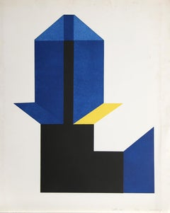 Castle No. 1, Geometric Abstract Etching by Jack Sonenberg