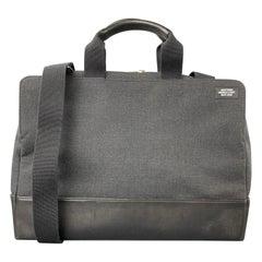 JACK SPADE Charcoal & Black Canvas Leather Trim Laptop Bag