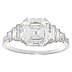 Jack Weir & Sons 2.02 Carat Emerald Cut Diamond Platinum Engagement Ring