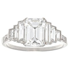 Jack Weir & Sons GIA 1.59 Carat Diamond Platinum Engagement Ring