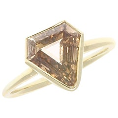Jack Weir & Sons GIA 1.99 Carat Fancy Color Diamond Gold Ring