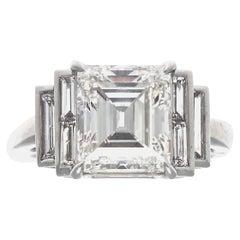 Jack Weir & Sons GIA 3.30 Carat Diamond Platinum Engagement Ring