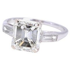 Jack Weir & Sons GIA 3.44 Carat Diamond Platinum Ring