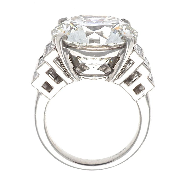 Modern Jack Weir & Sons GIA Certified 12.23 Carat Diamond Platinum Engagement Ring For Sale