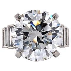 Jack Weir & Sons GIA Certified 12.23 Carat Diamond Platinum Engagement Ring