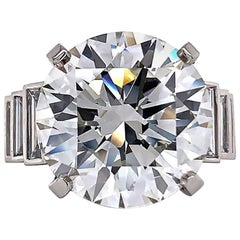 Jack Weir & Sons GIA Certified 12+ Carat Diamond Platinum Engagement Ring
