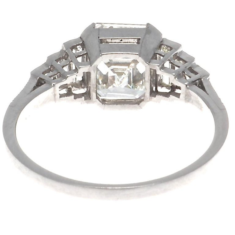 Jack Weir & Sons GIA Certified 2.02 Carat Emerald Cut Diamond Platinum Ring In New Condition For Sale In Beverly Hills, CA