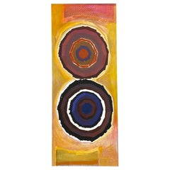 "Jack Wolfe ""Concentric Circles"", Tall Abstract Expressionist Painting, 1960s"