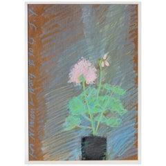 "Jack Youngerman ""Geranium"" 1963 Pastel on Board"