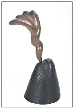 Jack Zajac Original Bronze Sculpture Full Round Signed Artwork Mountain Cloud