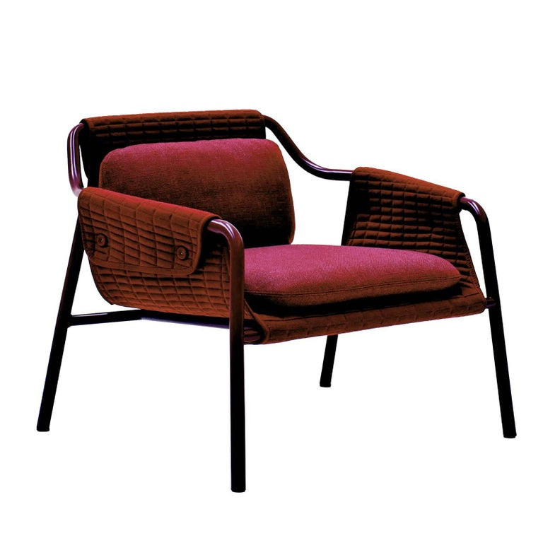 Jacket Red Armchair by Patrick Norguet For Sale