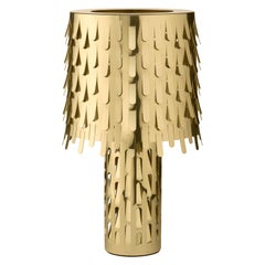 Jackfruit Table Lamp in Polished Brass by Campana Brothers