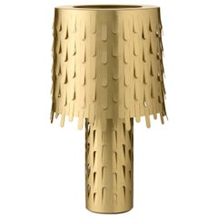 Jackfruit Table Lamp in Satin Brass by Campana Brothers
