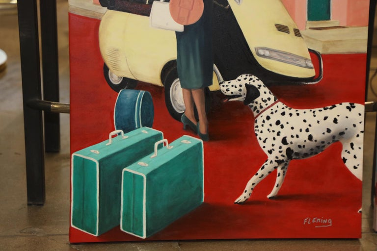 American Jackie Kennedy Oil Painting by Jay Fleming For Sale