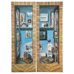 Jackie Kennedy's Trompe l'Oeil White House Dressing Room Doors Reproductions