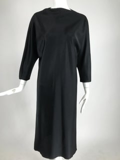 Jackie Rogers Classic Black Satin Bias Cut Dress