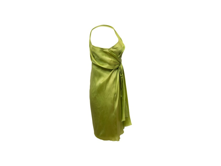 Jackie Rogers Lime Green One Shoulder Dress 1