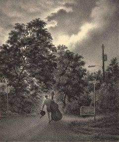 Calhoun Street (a bass violinist walking in Atlanta near Georgia Tech)