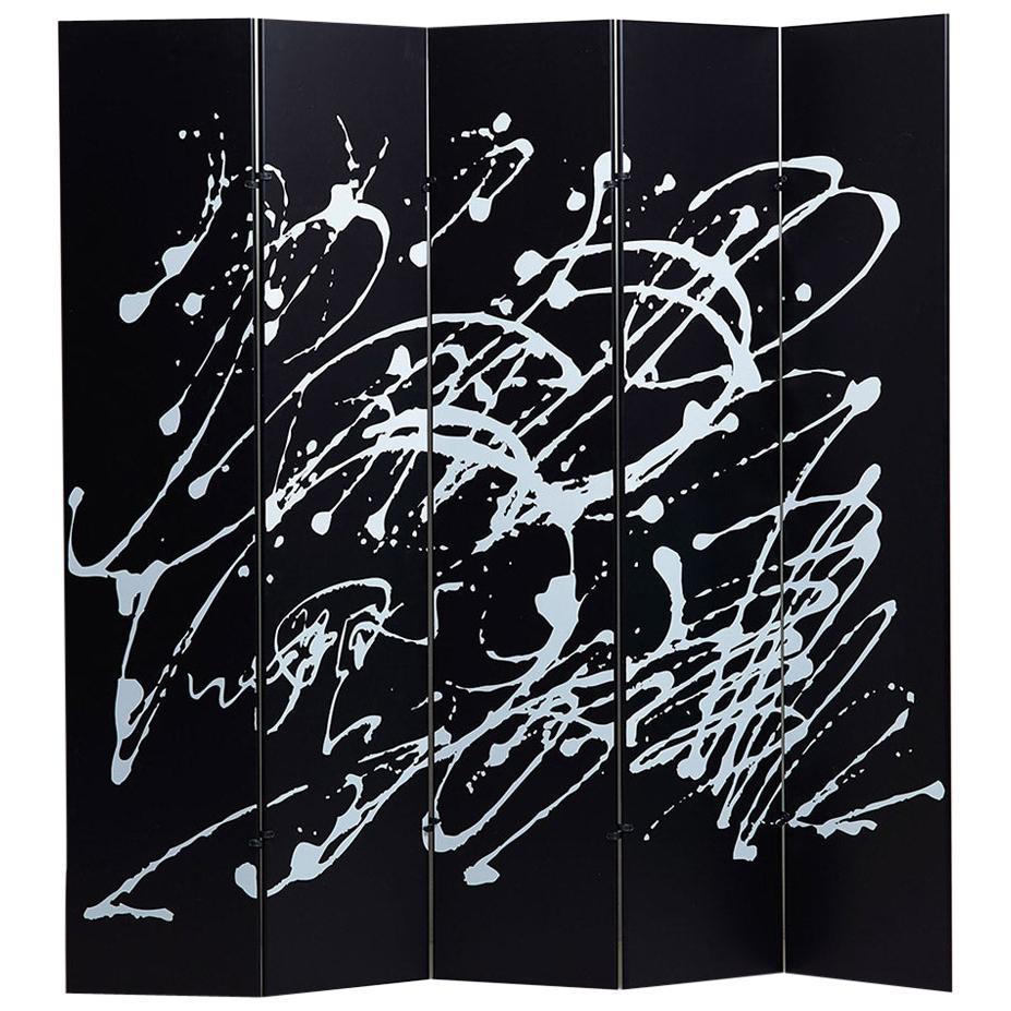 Jackson Pollock Black Screen by Dino Gavina and Kazuhide Takahama