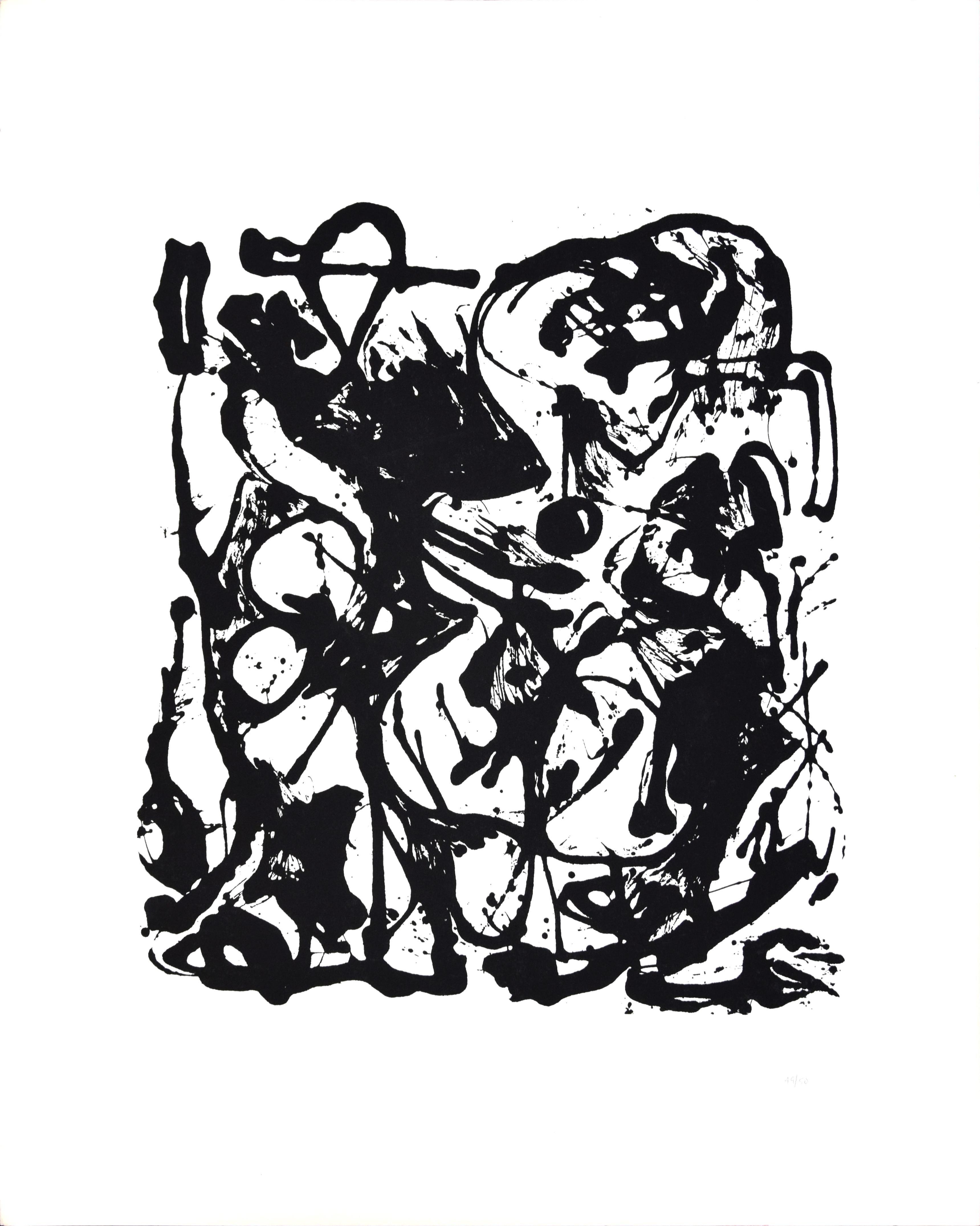 Untitled No. 6 - original screenprint by Jackson Pollock - 1951/64