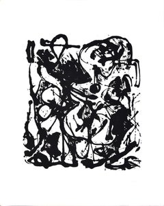 Untitled No. 6 - original screenprint by Jackson Pollock - 1951/64