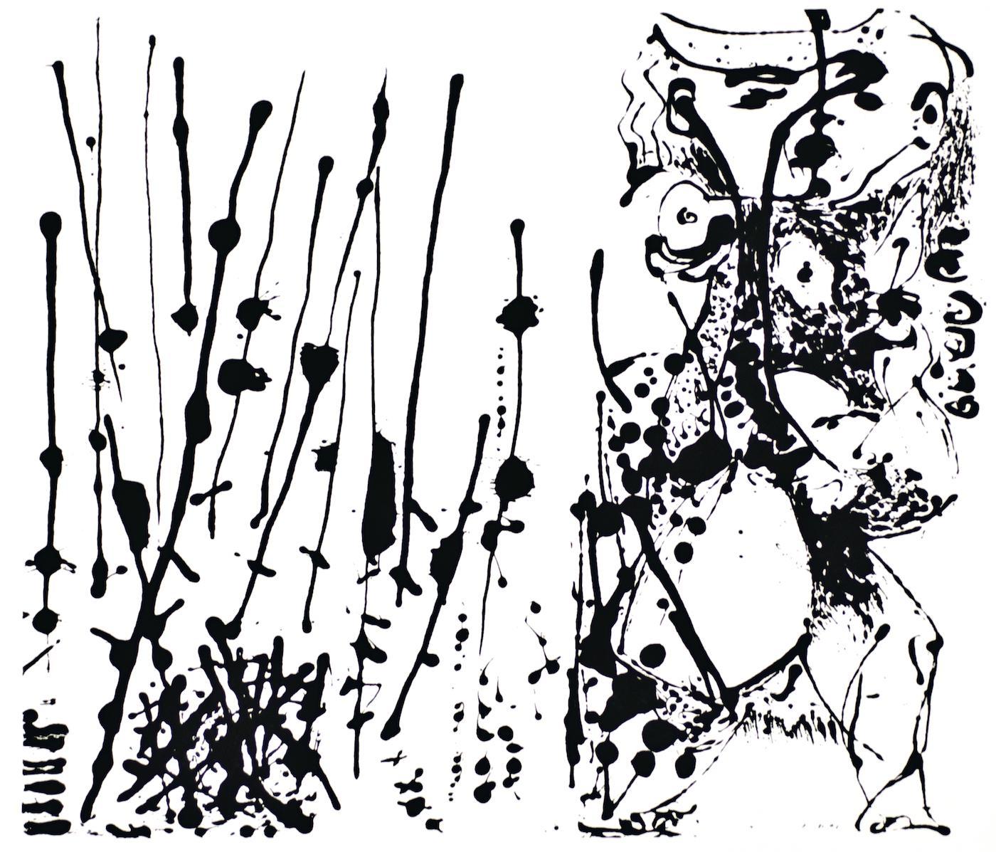 Untitled - Expression no. 1 - Original Serigraph After Jackson Pollock - 1964