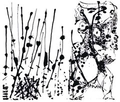 Untitled - Expression no. 1 - Original Serigraph After Jackson Pollock - 1964