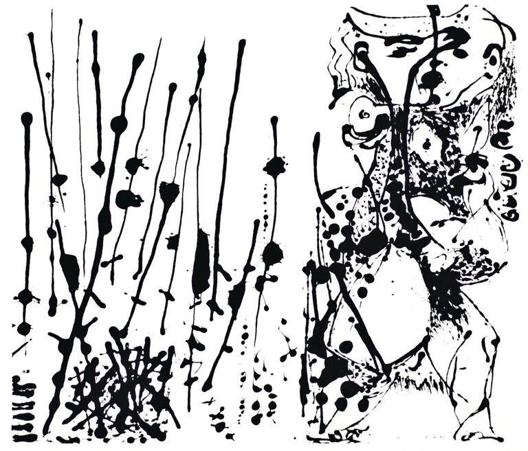 Untitled - Expression no. 1 - Original Serigraph After Jackson Pollock - 1964 - Print by Jackson Pollock