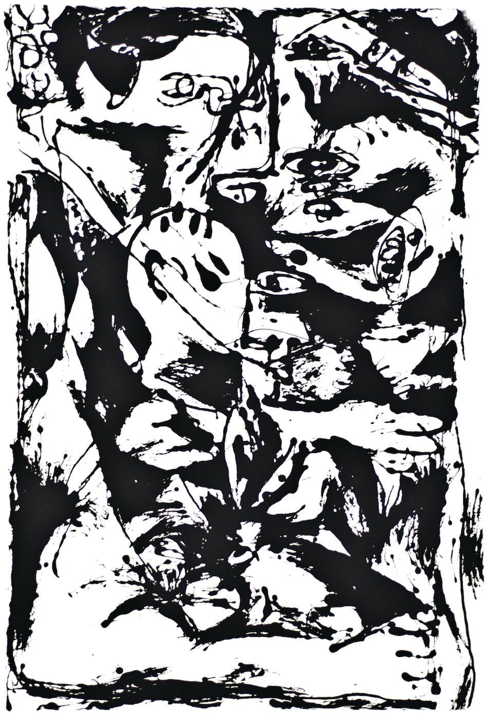Untitled - Expression no. 2 - Original Serigraph After Jackson Pollock - 1964