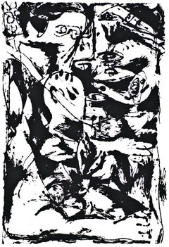 Untitled - Expression no. 2 - Original Serigraph After Jackson Pollock - 1964