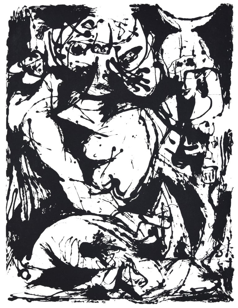 Untitled, CR1095 (after painting Number 22, CR344), 1951, printed 1964 - Print by Jackson Pollock
