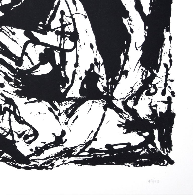 Untitled, CR1095 (after painting Number 22, CR344), 1951, printed 1964 - Abstract Expressionist Print by Jackson Pollock