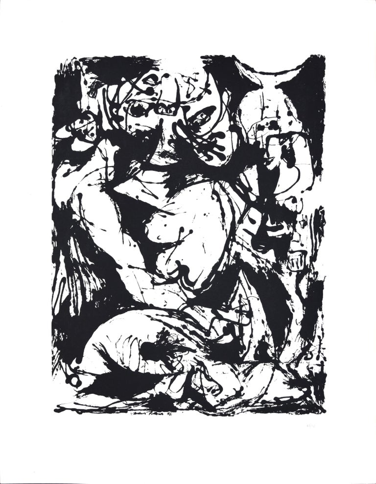 Jackson Pollock Abstract Print - Untitled, CR1095 (after painting Number 22, CR344), 1951, printed 1964