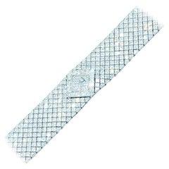 Jacob & Co 50 Carat Asscher Diamond Ladies Watch VS1 E-F Invisible Bracelet