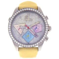 Jacob & Co. Automatic Chronograph ACM16, Diamond Dial, Certified