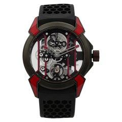 Jacob & Co. Epic X Skeleton Titanium Hand-Wind Men's Watch EX100.21.RR.PY.A