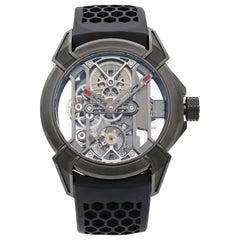 Jacob & Co. Epic X Skeleton Titanium Men's Hand-Wind Watch EX100.21.PS.BW.A