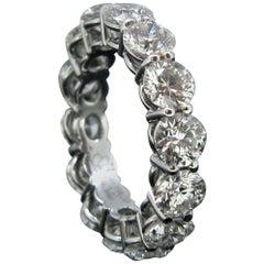 Jacob & Co Eternity Brilliant Cut 4.5 Carat Diamonds Ring, Platinum