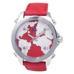 Jacob & Co. Five Time Zone JC47SR, Red Dial, Certified and Warranty